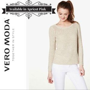 Vero Modo Lightweight Knitted Pullover Apricot XS